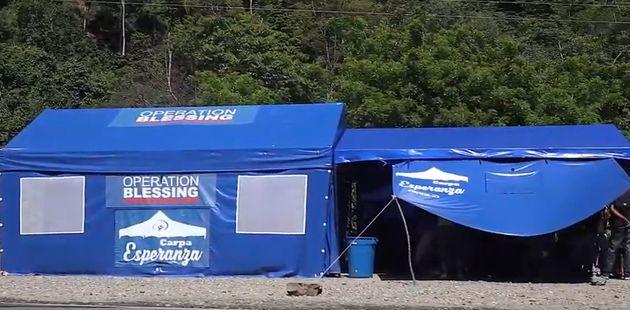 Carpa Esperanza in Cucuta,Colombia, atthe border with Venezuela. / Video capture.,