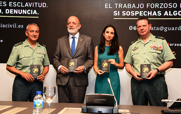 Presentation of the awareness campaign against human trafficking. / Guardia Civil,