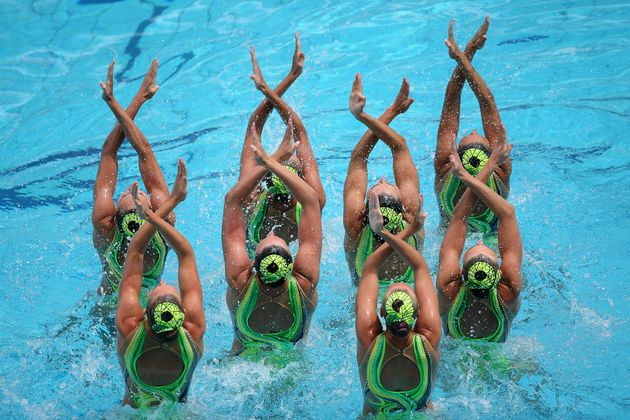 Synchronised swimming. / FINA.,