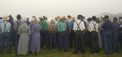 All Anabaptist groups, like the Amish, believe that baptism is only for adult believers.