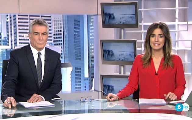Telecinco noon news.,