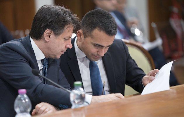 Italian Prime Minister, Giuseppe Conte, and 5 Start Movement leader, Luigi di Maio. / Twitter @GiuseppeConteT,
