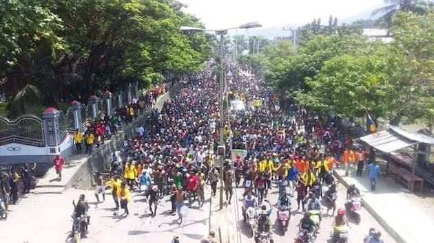 A demonstration in Jayapura, the capital of Papua. / ULMWP,