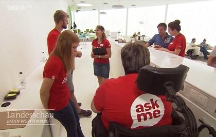 Volunteers of ICF Karlsruhe. / Image ARD-SWR