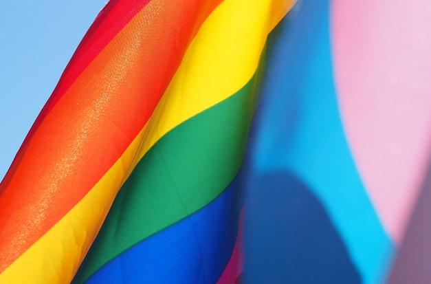 An LGBT and a transgender flag. / C. Johnsen (Unsplash, CC0),