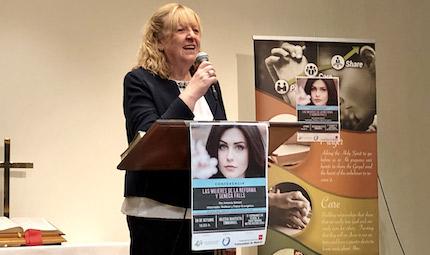 Ana Giménez, one of the Seneca Falls coordinators . / Seneca Falls platform