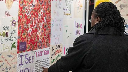An Open Doors UK worker at the expo. / Open Doors UK.