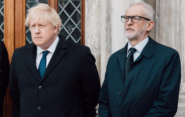 Boris Johnson and Jeremy Corbyn have been criticized by different faith leaders. / Twitter @jeremycorbyn,