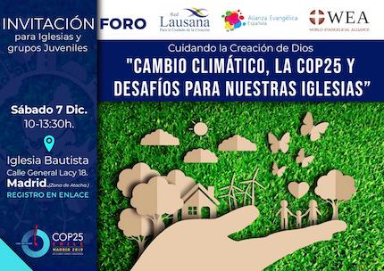 Evangelical forum on climate change and the church in Madrid.