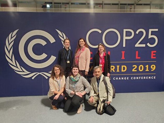 Members of the CCOP at the COP25 in Madrid, Spain. / CCOP,