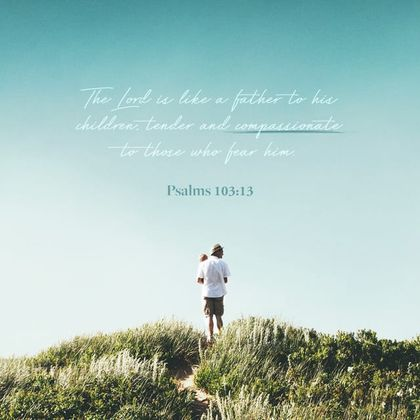 Psalms 103:13 has been the Bible verse image shared most often in English in 2019. / YouVersion.