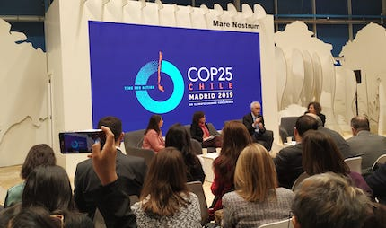 A panel at the COP25 conference in Madrid. / E. Carmona