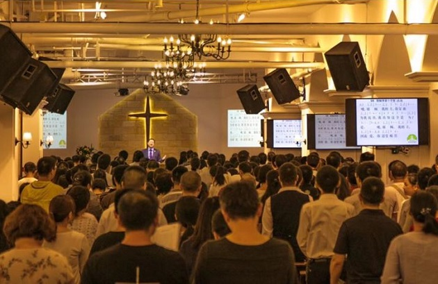 A worship service of the Early Rain Covenant Church, in Chengdu (China). /Facebook Pray for Early Rain Covenant Church,