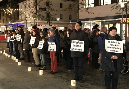 The vigil in Buchs. / CSI Switzerland