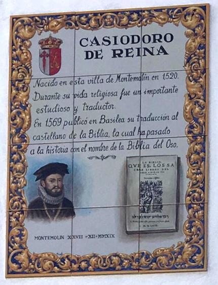 The commemorative plaque.
