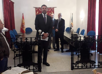 The Major of Montemolín greeted the participants in the event. / Emilio Monjo