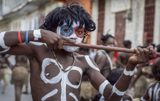 Rara, a typical Haitian procession related to voodoo that usually takes place in Easter. / GAiN.,