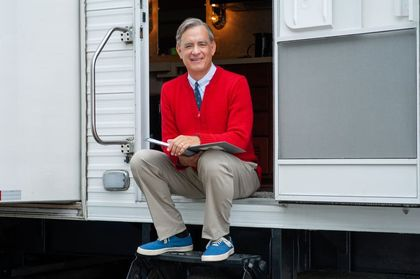 Tom Hanks  is nominated as best supporting actor for his role of pastor Fred Rogers. /A Beautiful Day in the Neighborhood official site.