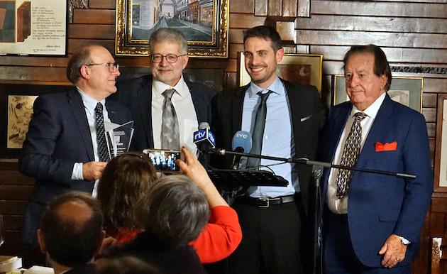 José Luis Villacañas left, with Pedro Tarquis, Daniel Hofkamp and Juan Antonio Monroy. / MGala,