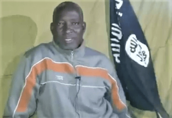The Rev. Lawan Andimi pleads for help on video released on Jan.5, 2020. / Morning Star News screenshot from video,