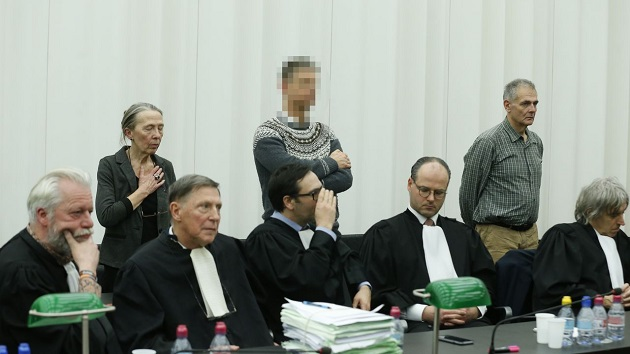 The three doctors, during the trial. / Photo: N. M., VRT,