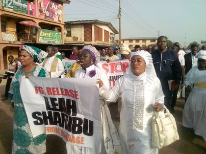 The march ended a a three-day fast  to protest the beheading of Brethren pastor Lawan Andimi. / CAN