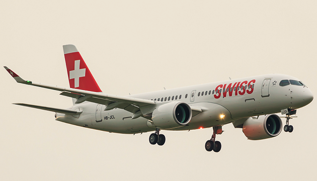 A Swiss Airlines plane. / Facebook Swiss,