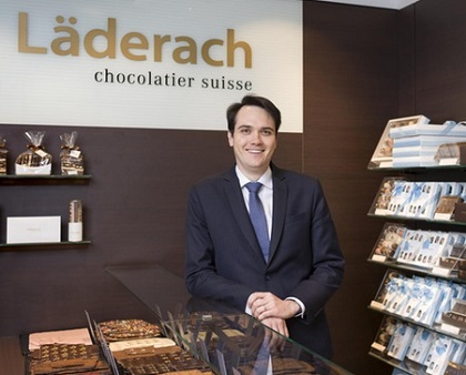 Johannes Läderach, in one of the shops. / Photo: Swissinfo