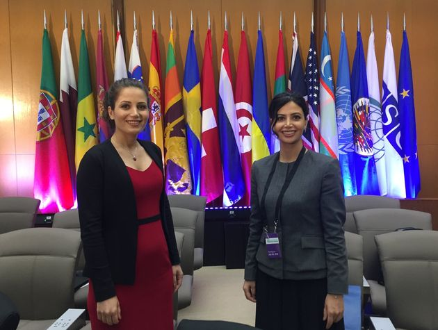 Maryam marziye and Marziyeh Amirizadeh at the First Ministerial to Advance Religious Freedom. / Facebook Maryam Marziye,