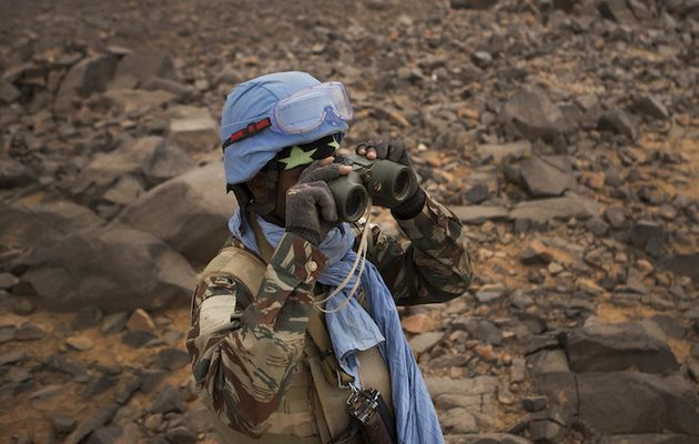 A Blue Helmets soldier in Mali. / MINUSMA (Flickr, CC),