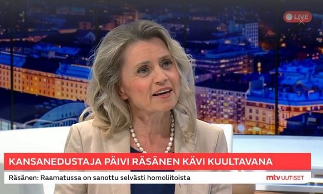 Päivi Räsänen in an interview with Finnish TV broadcaster Mtv Uutiset. / Screenshot Mtvuutiset,
