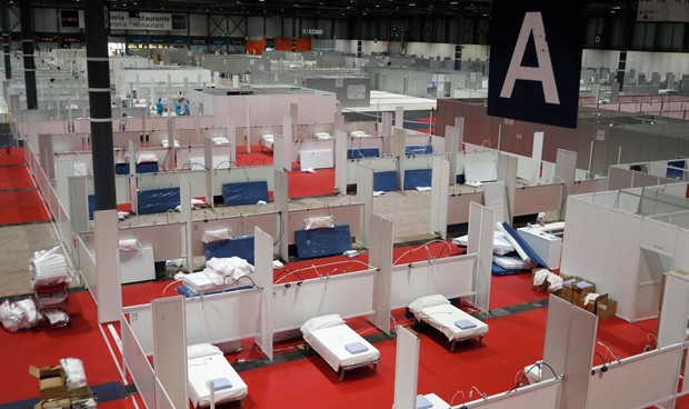 The IFEMA Convention Center has been converted into an enormous field hospital. / Actualidad Evangélica