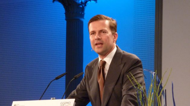 Steffen Seibert, head of the German Federal Government's Press and Information Office ./ Wikimedia.,
