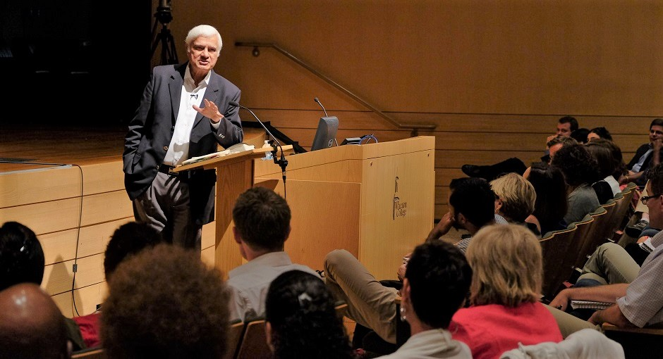 "Wheaton, Ill., 2014: Ravi Zacharias encourages students to consider life's greatest existential questions of origin, meaning, morality, and destiny during the RZIM Summer Institute. / <a target=""_blank"" href=""https://www.rzim.org"">RZIM</a>,"