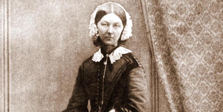 Florence Nightingtale, in 1858. / Goodman, Wikipedia CC,