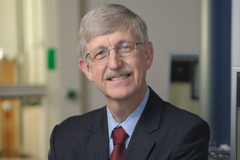 """Geneticist and physician Francis Collins, Director of the US National Institutes of Health. / <a target=""""_blank"""" href=""""https://www.templetonprize.org/"""">Templeton Foundation</a>.,"""