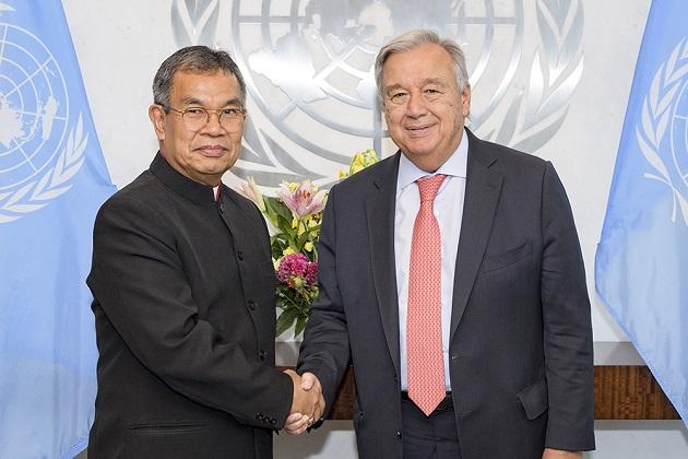 WEA Secretary General Efraim Tendero meets with UN Secretary General António Guterres in September 2018. / Photo: WEA
