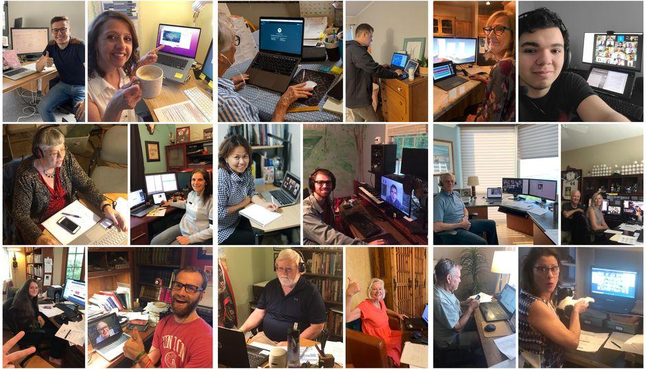 ELF volunteeers supervised each Zoom video conference session./ ELF,