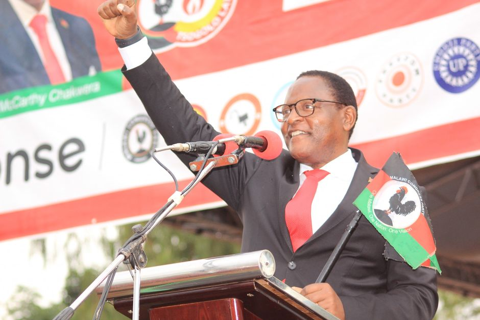 """Lazarus Chakwera during the electoral campaign. <a target=""""_blank"""" href=""""https://www.facebook.com/DrLazarusChakwera/"""">Facebook Lazarus Chakwera</a>. ,"""