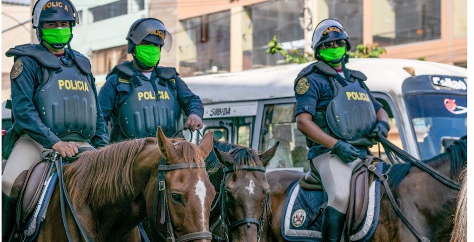 "Spanish police. /   <a target=""_blank"" href=""https://unsplash.com/@cuacbp"">Jorge Alvarado</a>, Unsplash CC0.,"
