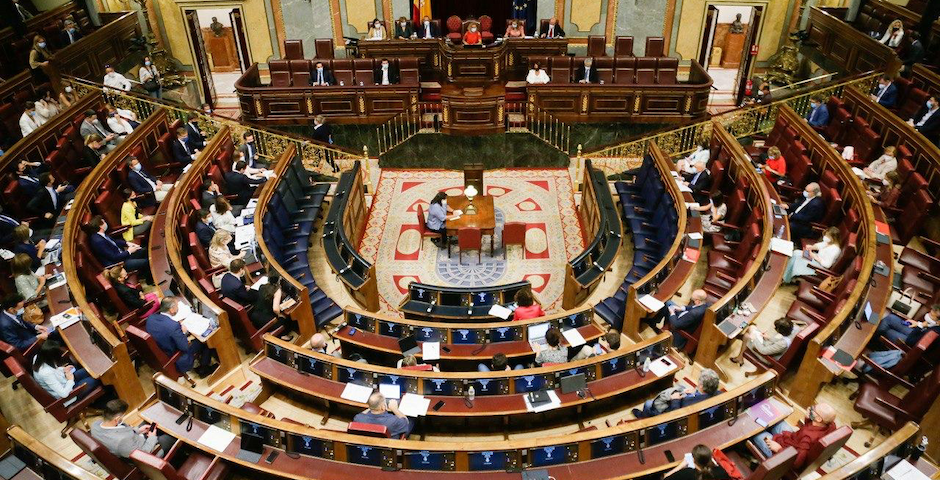 The Spanish Parliament during the session where the euthanasia was discussed.,