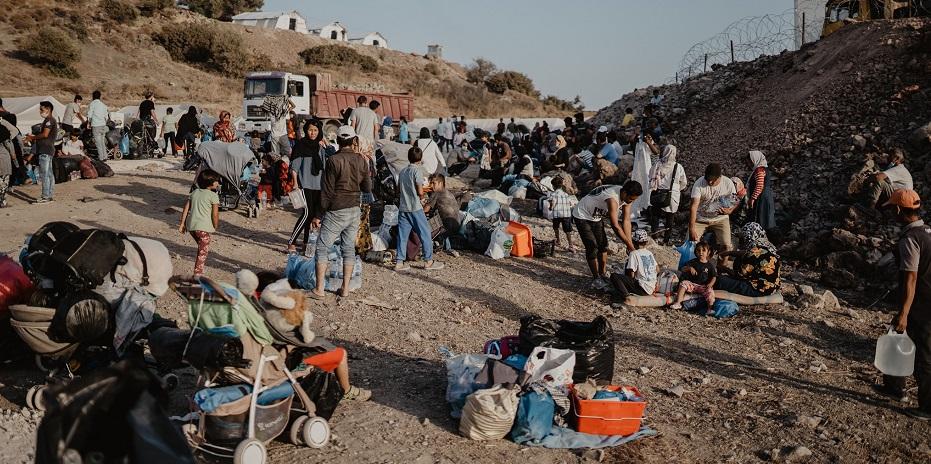 "Asylum seekers in Lesbos, Greece, September 2020. / Photo: <a target=""_blank"" href=""https://www.facebook.com/Gain.org.es/"">Gain España</a>,"