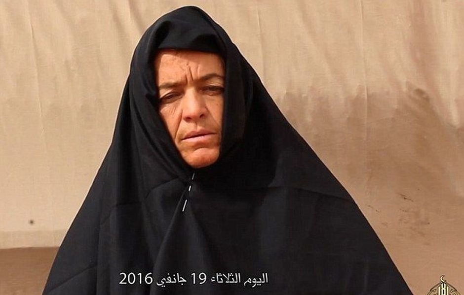 Swiss missionary Beatrice Stöckli in a video made by her  jihadist captors.,