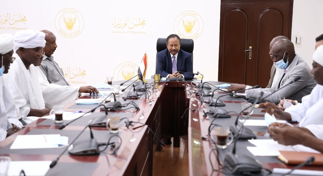 Sudan's Prime Minister, Dr. Abdullah Hamdouk, in a government meeting. / Sudan.gov,