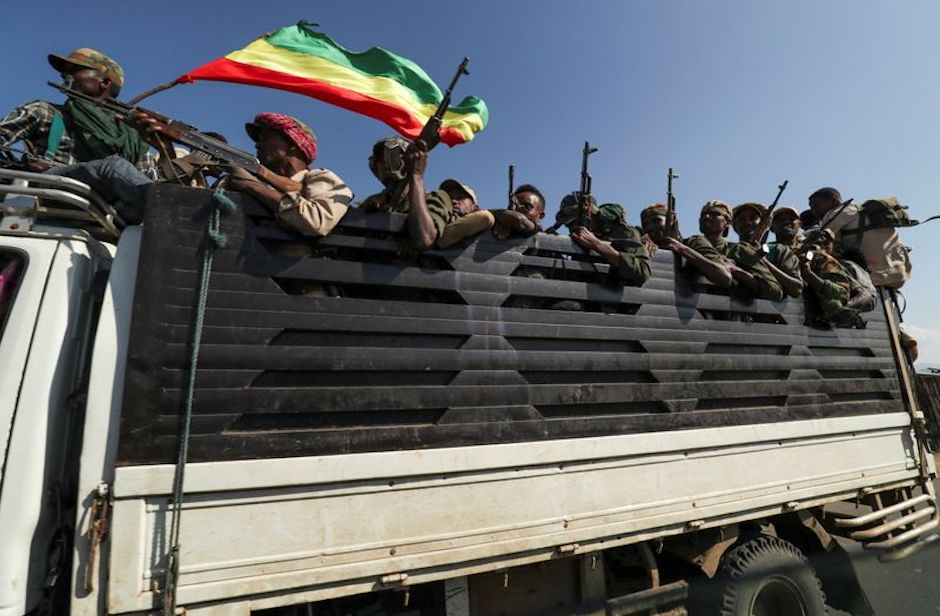 Addis Ababa has deployed troops to the region of Tigray where, according to the army, more than 550 TPLF soldier have already died. / Twitter.,