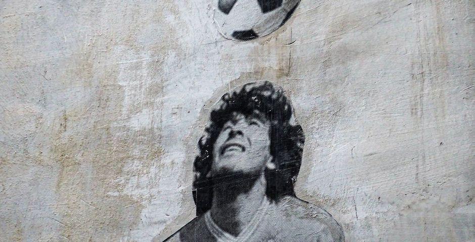 "Wall painting in Naples, Italy, where Maradona played 7 years. /  <a target=""_blank"" href=""https://unsplash.com/@jacktthunter"">Jack Hunter</a>, Unsplash CC0.,"
