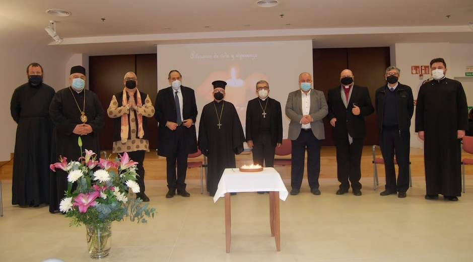 "The religious leaders that signed the manifesto against euthanasia in Spain, December 2020. / <a target=""_blank"" href=""https://www.religionenlibertad.com/"">ReligiónEnLibertad</a>,"