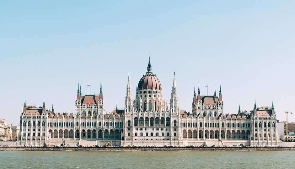 """The Hungarian National Assembly, in Budapest. / <a target=""""_blank"""" href=""""https://unsplash.com/@christianwidell"""">C. Widell</a>,"""