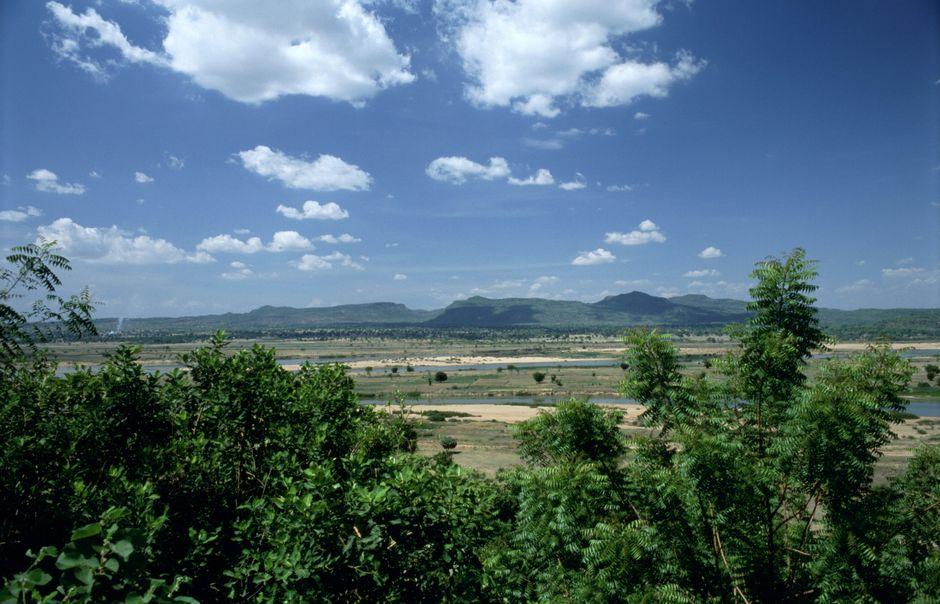 """Mandara Mountains in Adamawa state Nigeria. / <a target=""""_blank"""" href=""""https://en.wikipedia.org/wiki/Adamawa_State"""">Leigh Bowden. Wikipedia.</a>,"""