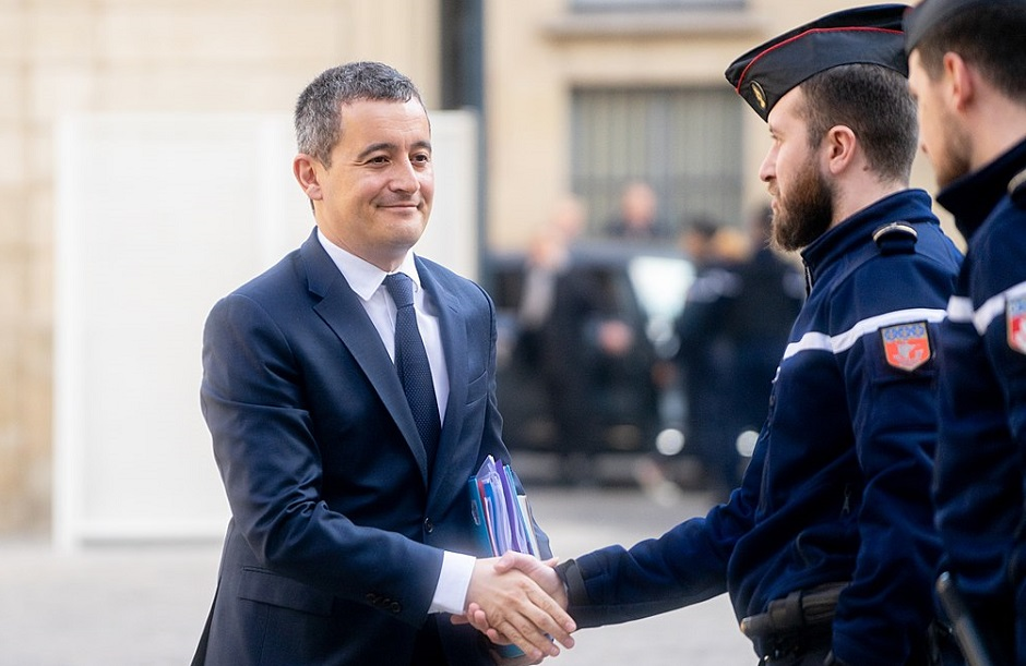 "The Ministerior of the Interior of France, Gérald Darmanin. /  <a target=""_blank"" href=""https://es.wikipedia.org/wiki/Archivo:G%C3%A9rald_Darmanin_2019.jpg"">Jacques Paquier</a>, Wikipedia, CC,"